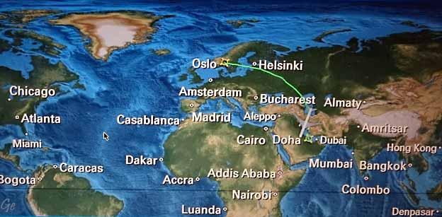 hvor ligger qatar