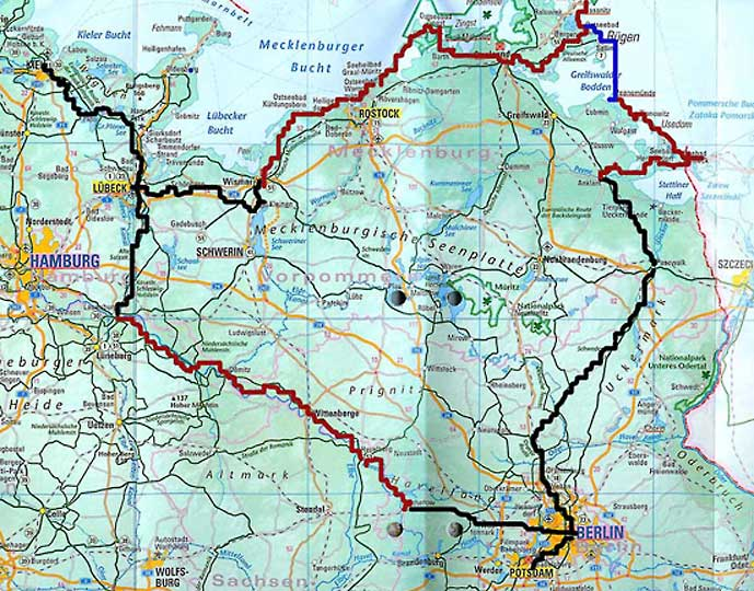 kart øst tyskland Sykkeltur i Tyskland kart øst tyskland